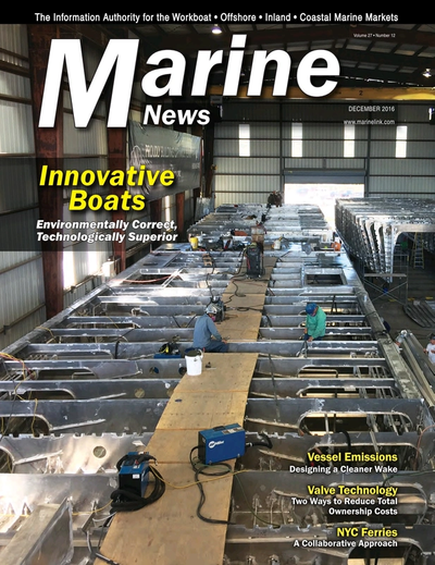 Cover of December 2016 issue of Marine News Magazine