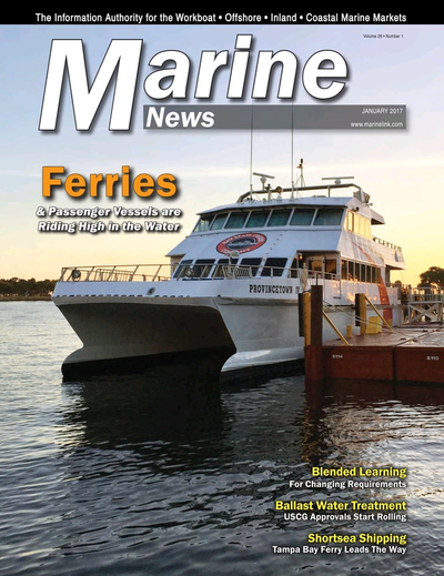 Cover of January 2017 issue of Marine News Magazine