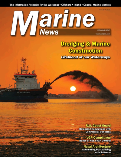 Cover of February 2017 issue of Marine News Magazine