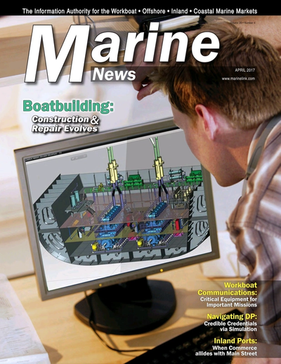 Cover of April 2017 issue of Marine News Magazine