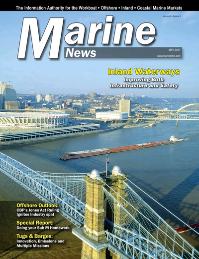Cover of May 2017 issue of Marine News Magazine