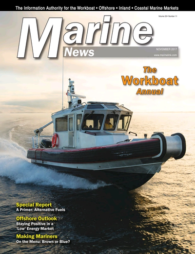 Cover of November 2017 issue of Marine News Magazine