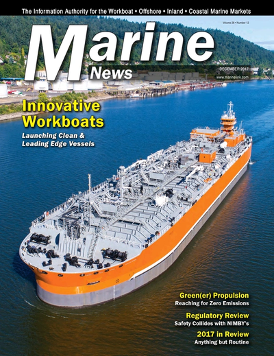 Cover of December 2017 issue of Marine News Magazine