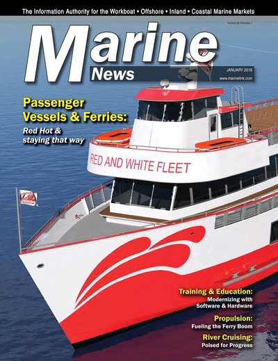 Cover of January 2018 issue of Marine News Magazine