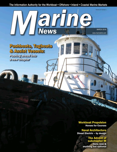 Cover of March 2018 issue of Marine News Magazine