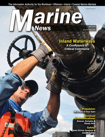 Cover of May 2018 issue of Marine News Magazine