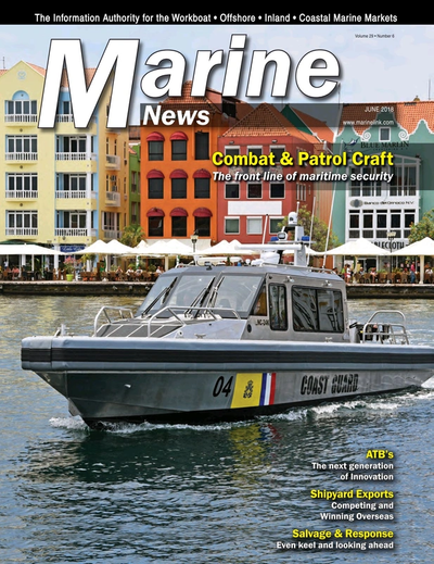 Cover of June 2018 issue of Marine News Magazine