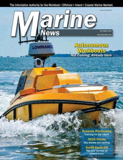 Cover of October 2018 issue of Marine News Magazine