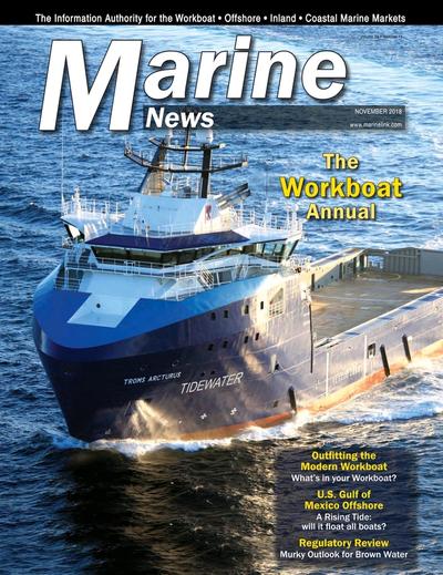 Cover of November 2018 issue of Marine News Magazine