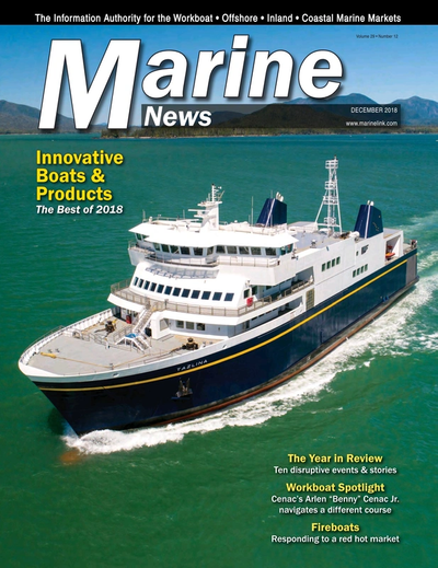 Cover of December 2018 issue of Marine News Magazine