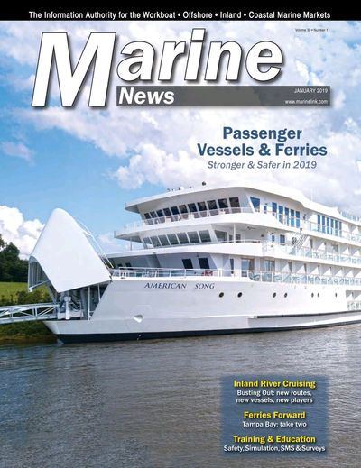 Cover of January 2019 issue of Marine News Magazine