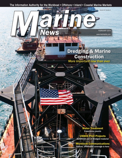 Cover of February 2019 issue of Marine News Magazine