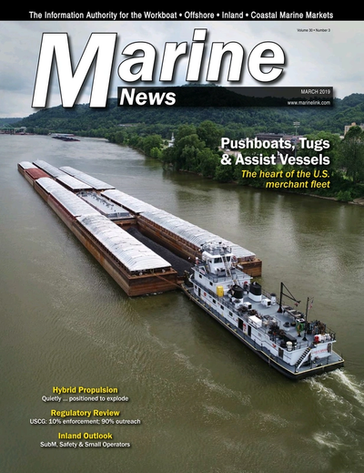 Cover of March 2019 issue of Marine News Magazine