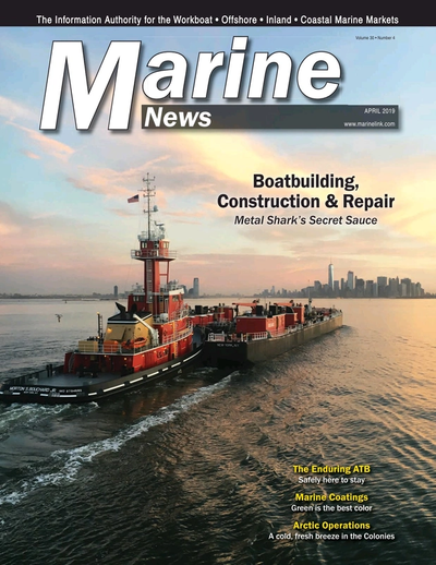 Cover of April 2019 issue of Marine News Magazine