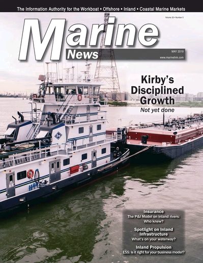 Cover of May 2019 issue of Marine News Magazine