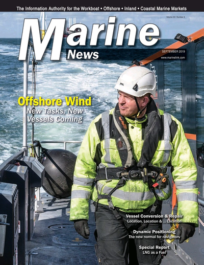 Cover of September 2019 issue of Marine News Magazine