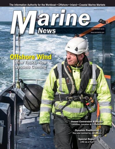 Cover of September 2019 issue of Marine News Magazine