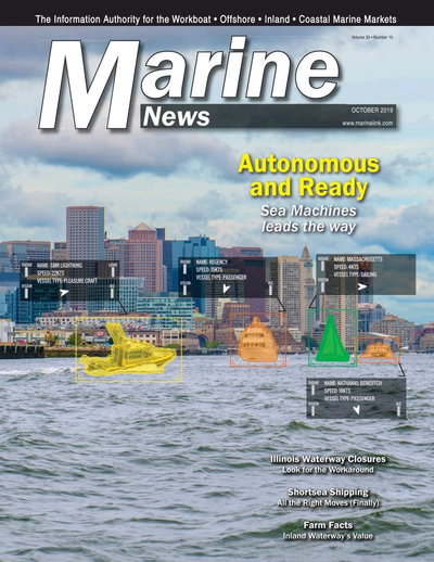 Cover of October 2019 issue of Marine News Magazine