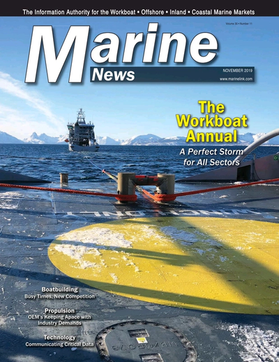 Cover of November 2019 issue of Marine News Magazine