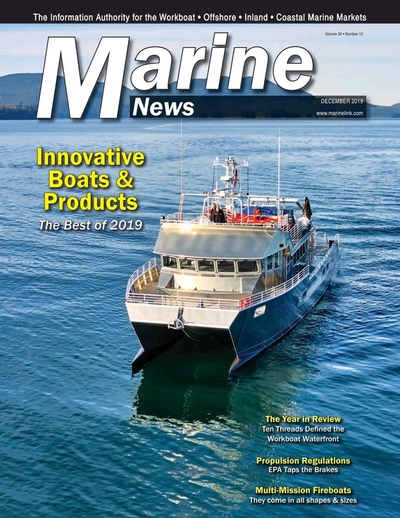 Cover of December 2019 issue of Marine News Magazine