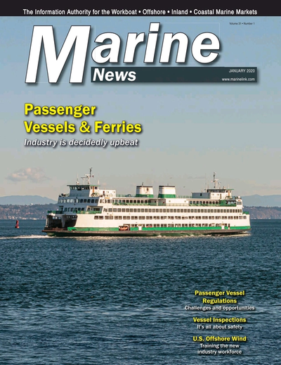 Cover of January 2020 issue of Marine News Magazine