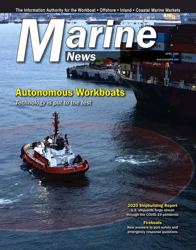 Cover of April 2020 issue of Marine News Magazine