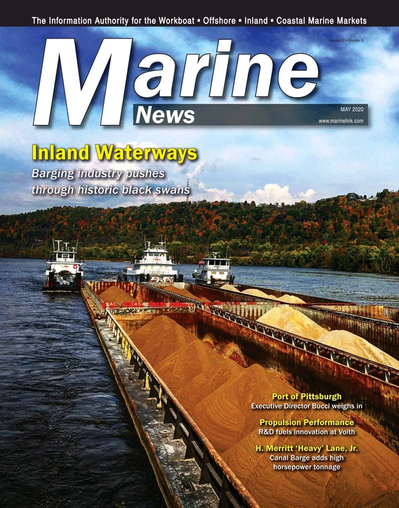 Cover of May 2020 issue of Marine News Magazine