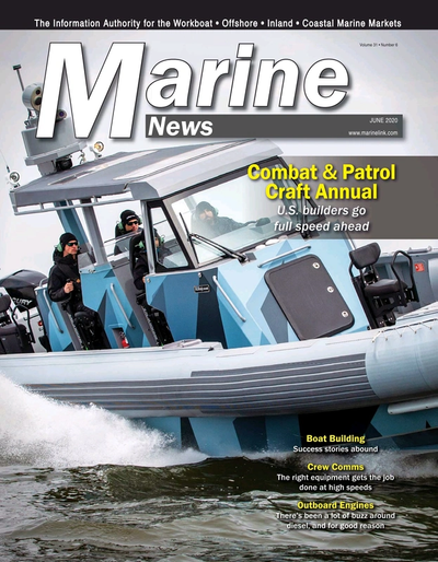 Cover of June 2020 issue of Marine News Magazine