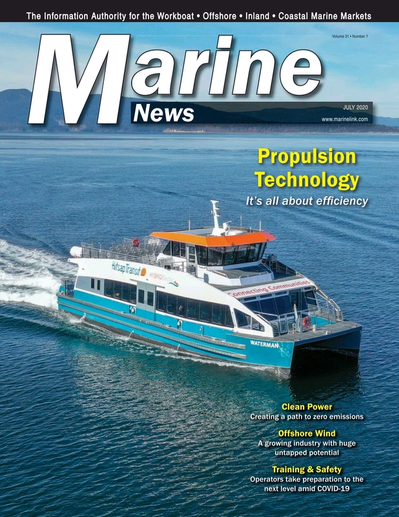 Cover of July 2020 issue of Marine News Magazine