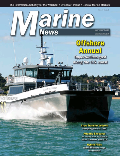 Cover of September 2020 issue of Marine News Magazine