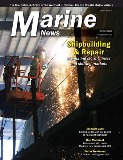 Cover of October 2020 issue of Marine News Magazine