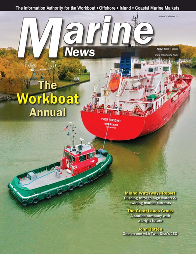 Cover of November 2020 issue of Marine News Magazine
