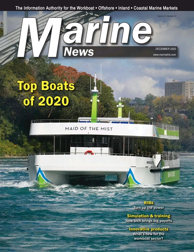 Cover of December 2020 issue of Marine News Magazine