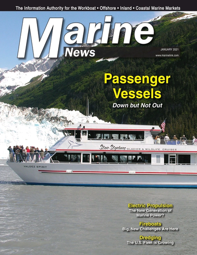 Cover of January 2021 issue of Marine News Magazine