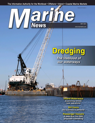 Cover of May 2021 issue of Marine News Magazine