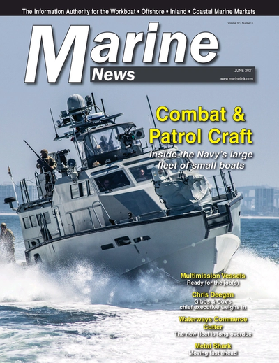 Cover of June 2021 issue of Marine News Magazine