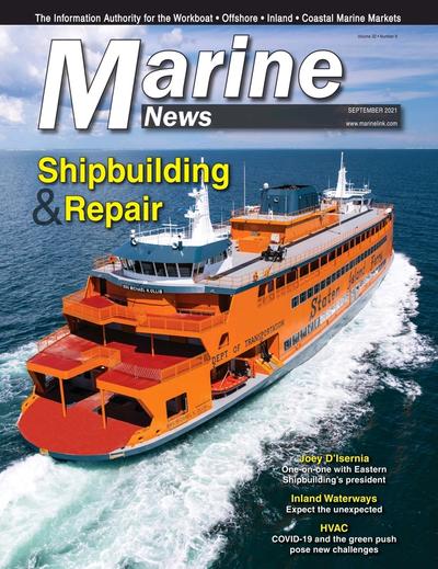 Cover of September 2021 issue of Marine News Magazine