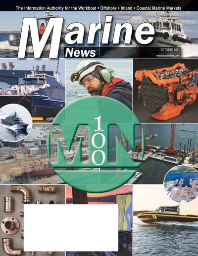 Cover of October 2021 issue of Marine News Magazine