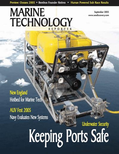 Cover of September 2005 issue of Marine Technology Reporter Magazine