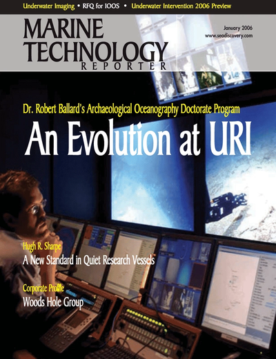 Cover of January 2006 issue of Marine Technology Reporter Magazine