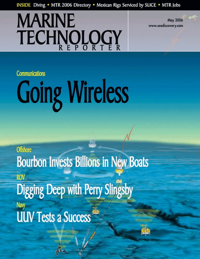 Cover of May 2006 issue of Marine Technology Reporter Magazine