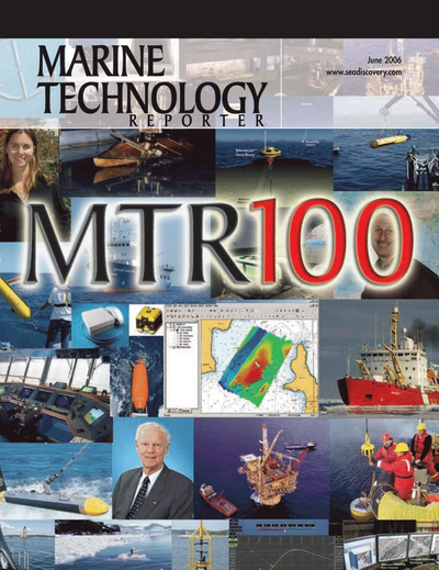 Cover of June 2006 issue of Marine Technology Reporter Magazine