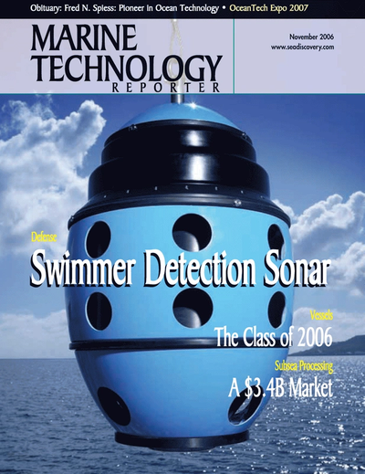 Cover of November 2006 issue of Marine Technology Reporter Magazine