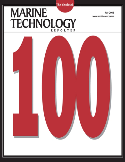Cover of July 2008 issue of Marine Technology Reporter Magazine