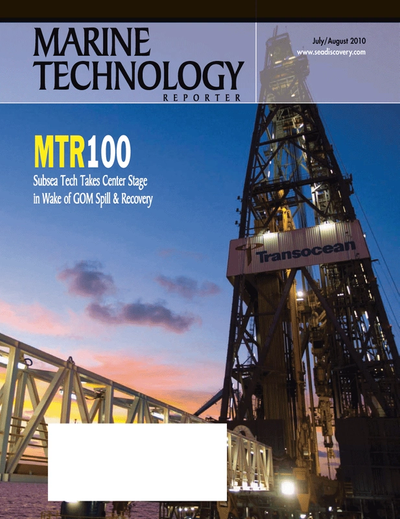 Cover of July 2010 issue of Marine Technology Reporter Magazine