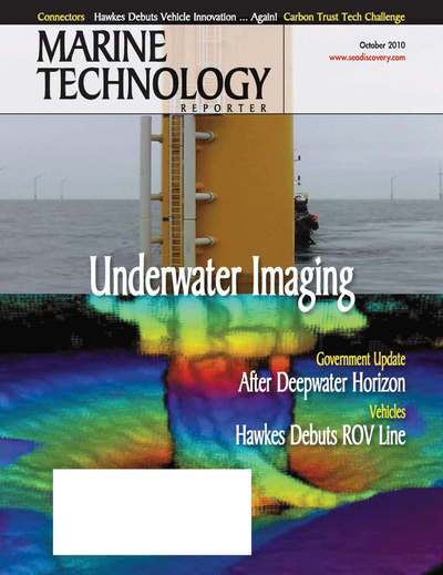 Cover of October 2010 issue of Marine Technology Reporter Magazine