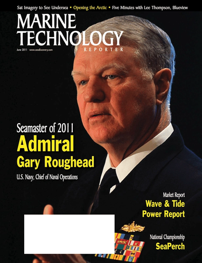 Cover of June 2011 issue of Marine Technology Reporter Magazine