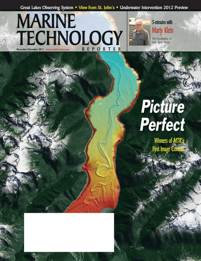 Cover of November 2011 issue of Marine Technology Reporter Magazine