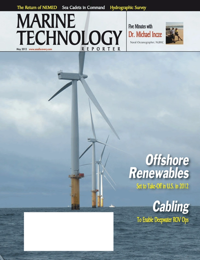 Cover of May 2012 issue of Marine Technology Reporter Magazine