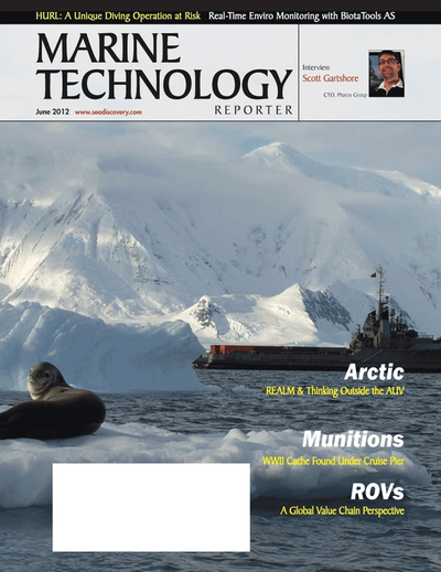 Cover of June 2012 issue of Marine Technology Reporter Magazine